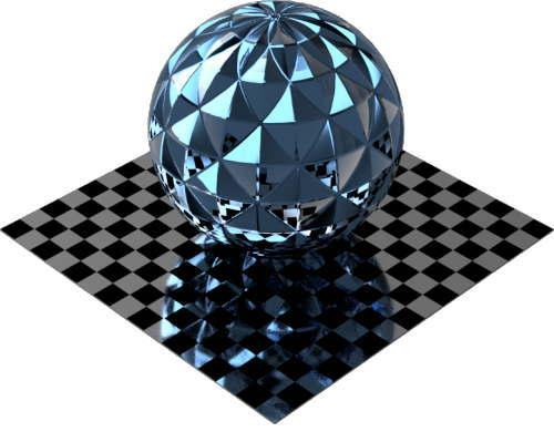 3DCADモデリングの外観をメタルのアルミニウム-ナーリングに色変更後2