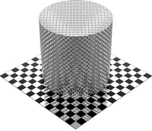 3DCADモデリングの外観をメタルのアルミニウム-ナーリング円柱