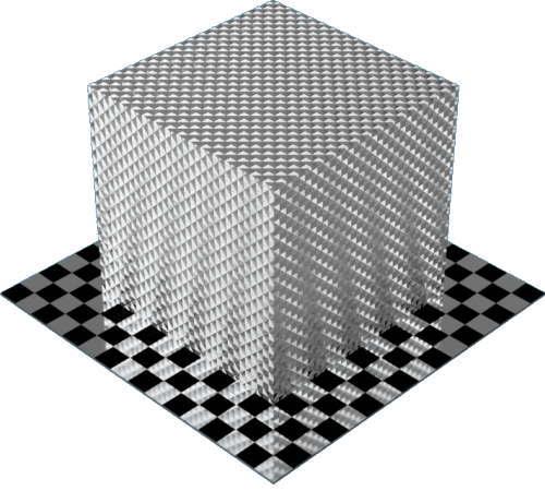 3DCADモデリングの外観をメタルのアルミニウム-ナーリング直方体