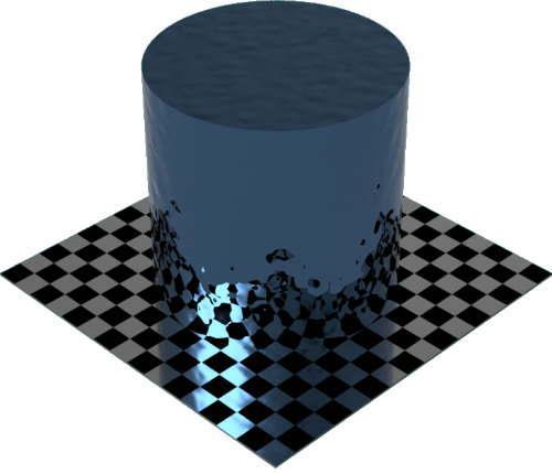 3DCADモデリングの外観をメタルのアルミニウム-ビーズブラストに色変更後