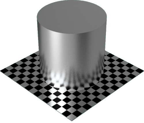 3DCADモデリングの外観をメタルのアルミニウム-ビーズブラスト円柱