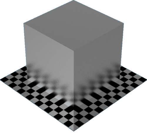 3DCADモデリングの外観をメタルのアルミニウム-ビーズブラスト直方体