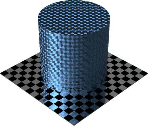 3DCADモデリングの外観をメタルのアルミニウム-ブラシ仕上げ放射状に色変更後