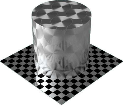 3DCADモデリングの外観をメタルのアルミニウム-ブラシ仕上げ放射状円柱