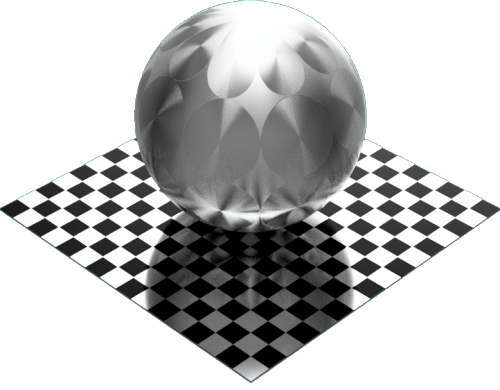 3DCADモデリングの外観をメタルのアルミニウム-ブラシ仕上げ放射状球
