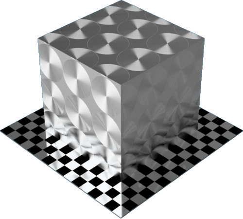 3DCADモデリングの外観をメタルのアルミニウム-ブラシ仕上げ放射状直方体