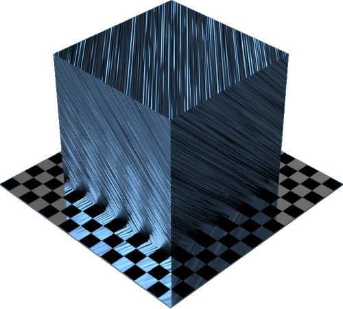 3DCADモデリングの外観をメタルのアルミニウム-ブラシ仕上げ直線状に色変更後