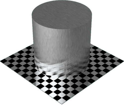 3DCADモデリングの外観をメタルのアルミニウム-ブラシ仕上げ直線状円柱