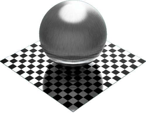 3DCADモデリングの外観をメタルのアルミニウム-ブラシ仕上げ直線状球
