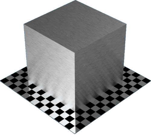 3DCADモデリングの外観をメタルのアルミニウム-ブラシ仕上げ直線状直方体