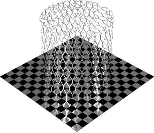3DCADモデリングの外観をメタルのアルミニウム-メッシュ-エキスパンド粗円柱