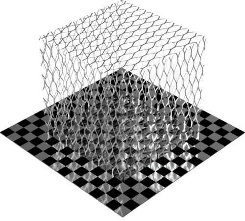 3DCADモデリングの外観をメタルのアルミニウム-メッシュ-エキスパンド粗直方体