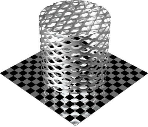 3DCADモデリングの外観をメタルのアルミニウム-メッシュ-エキスパンド 密円柱