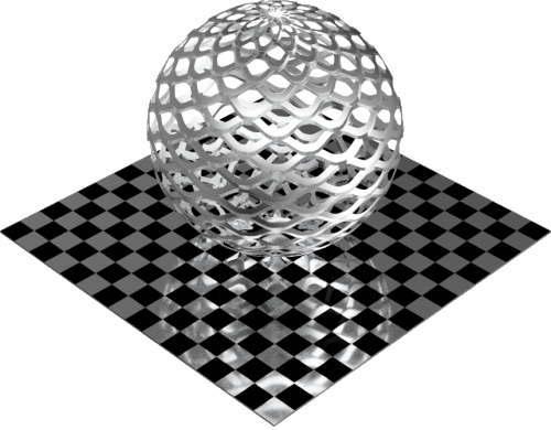 3DCADモデリングの外観をメタルのアルミニウム-メッシュ-エキスパンド 密球