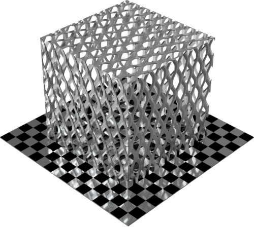 3DCADモデリングの外観をメタルのアルミニウム-メッシュ-エキスパンド 密直方体