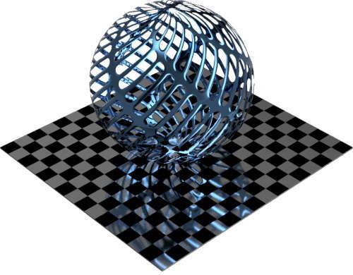 3DCADモデリングの外観をメタルのアルミニウム-メッシュ-スロットに色変更後