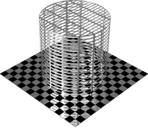 3DCADモデリングの外観をメタルのアルミニウム-メッシュ-スロット円柱