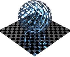 3DCADモデリングの外観をメタルのアルミニウム-メッシュ-スロット千鳥配置に色変更後