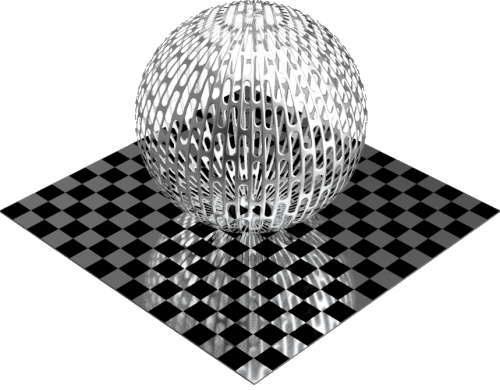 3DCADモデリングの外観をメタルのアルミニウム-メッシュ-スロット千鳥配置球