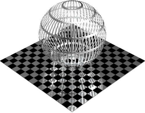 3DCADモデリングの外観をメタルのアルミニウム-メッシュ-スロット球