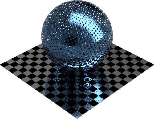 3DCADモデリングの外観をメタルのアルミニウム-メッシュ-スロット穴小に色変更後