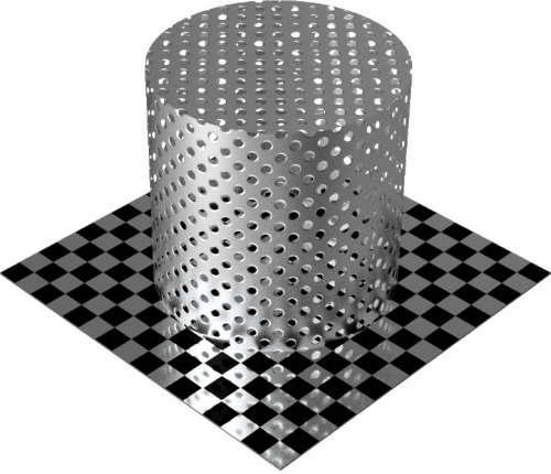 3DCADモデリングの外観をメタルのアルミニウム-メッシュ-穴小円柱