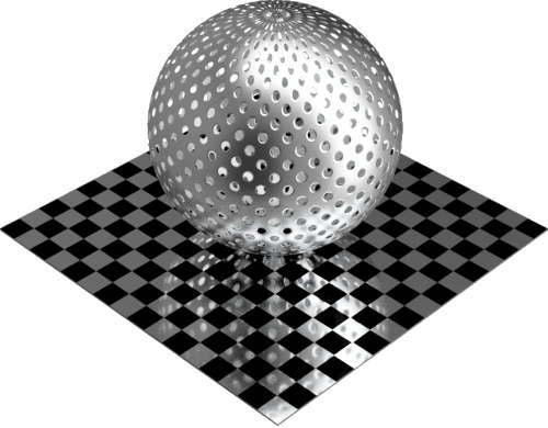 3DCADモデリングの外観をメタルのアルミニウム-メッシュ-穴小球