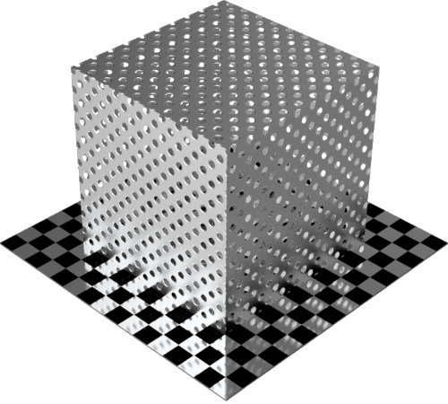 3DCADモデリングの外観をメタルのアルミニウム-メッシュ-穴小直方体