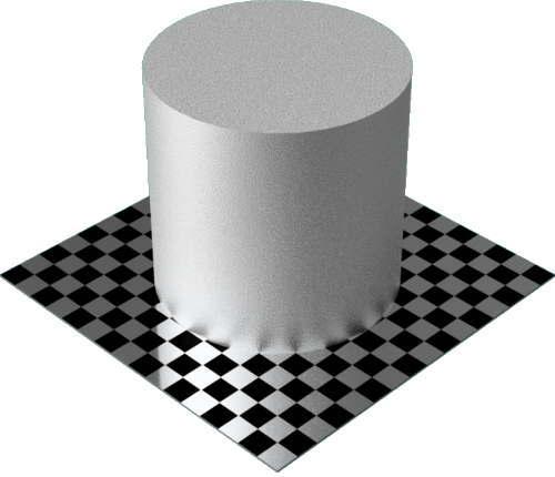 3DCADモデリングの外観をメタルのアルミニウム-鋳造円柱