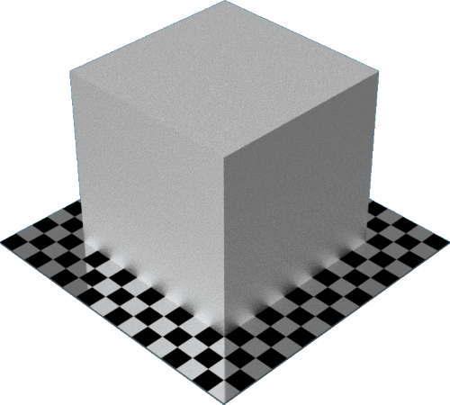 3DCADモデリングの外観をメタルのアルミニウム-鋳造直方体