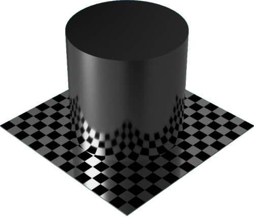 3DCADモデリングの外観をメタルのアルミニウム-陽極酸化光沢円柱