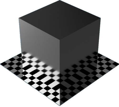3DCADモデリングの外観をメタルのアルミニウム-陽極酸化光沢直方体