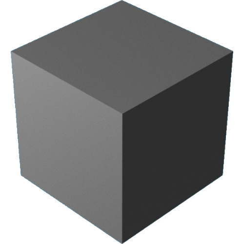 3DCADモデリングの外観をメタルのアルミニウム-陽極酸化粗い直方体
