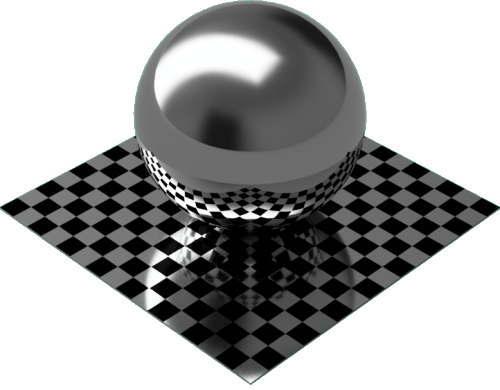 3DCADモデリングの外観をメタルのクロム球