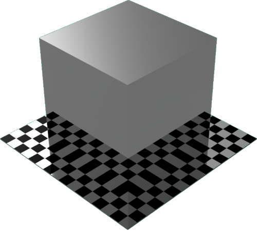3DCADモデリングの外観をメタルのクロム直方体