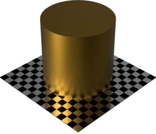 3DCADモデリングの外観をメタルのコーティング円柱