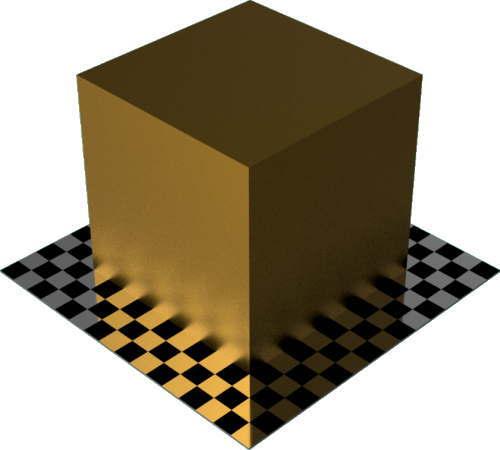 3DCADモデリングの外観をメタルのコーティング直方体