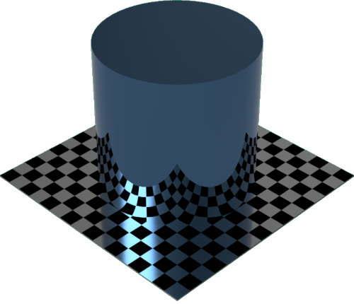3DCADモデリングの外観をメタルのチタンに色変更後