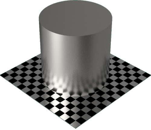 3DCADモデリングの外観をメタルのチタン円柱