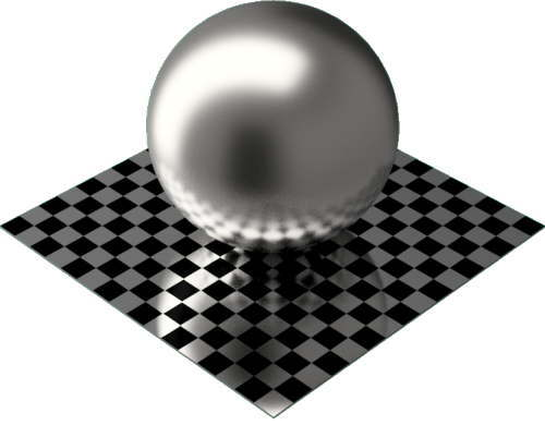 3DCADモデリングの外観をメタルのチタン球