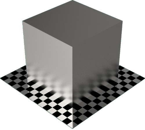 3DCADモデリングの外観をメタルのチタン直方体