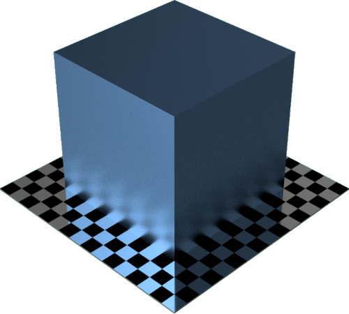 3DCADモデリングの外観をメタルのニッケルに色変更後