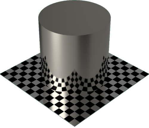 3DCADモデリングの外観をメタルのニッケル円柱