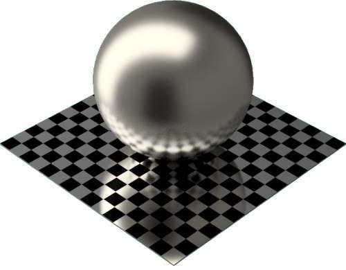 3DCADモデリングの外観をメタルのニッケル球