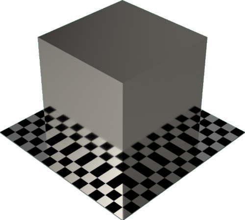 3DCADモデリングの外観をメタルのニッケル直方体