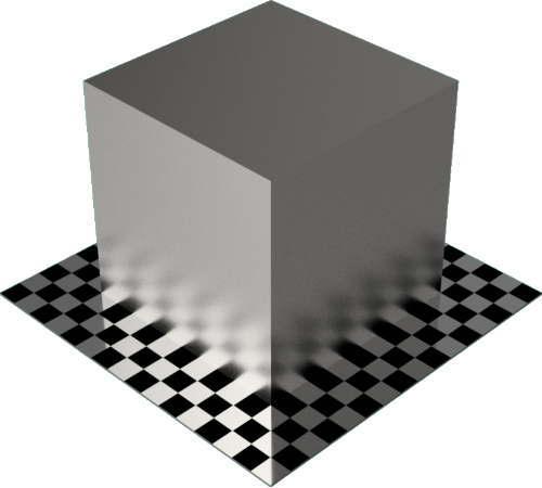 3DCADモデリングの外観をメタルのパラジウム直方体