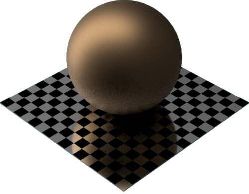 3DCADモデリングの外観をメタルのブロンズ球