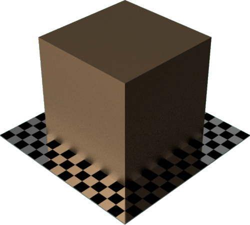 3DCADモデリングの外観をメタルのブロンズ直方体