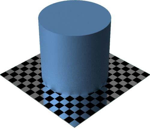 3DCADモデリングの外観をメタルのプラチナに色変更後