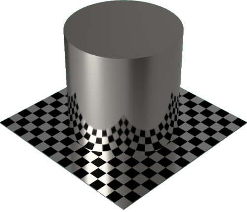 3DCADモデリングの外観をメタルのプラチナ円柱